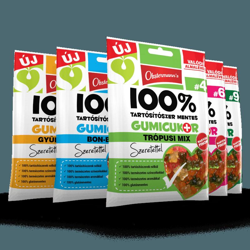 6 féle prémium gumicukor