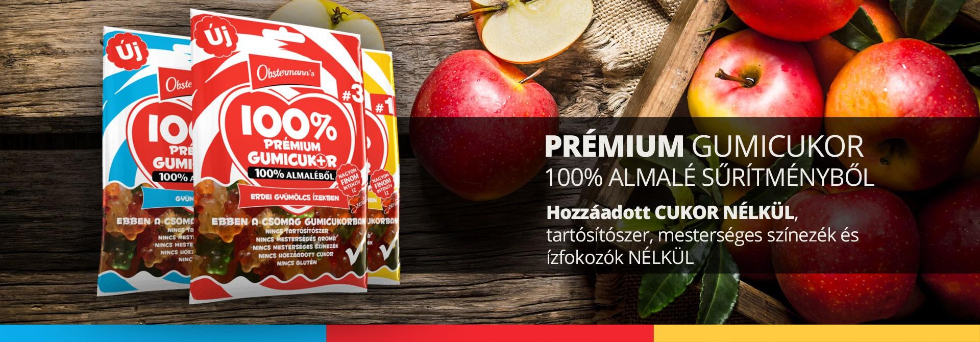 prémium gumicukor 100% almaléből