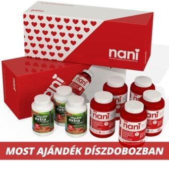 5 doboz NANI almaecet gyümölcszselé + 3 doboz ALMAVIT EXTRA multivitamin gumicukor